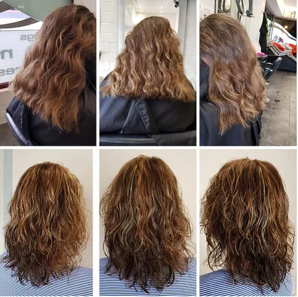 before and after curly hair